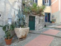 Ancient alleys in the village. Tellaro, Liguria, Italy, ancient alleys in the village Stock Photos