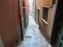 Ancient alleys in the village. Tellaro, Liguria, Italy, ancient alleys in the village Stock Photo