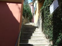 Ancient alleys in the village. Tellaro, Liguria, Italy, ancient alleys in the village Royalty Free Stock Photo