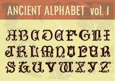 Ancient alphabet Stock Photo