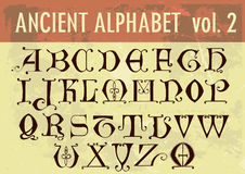 Ancient alphabet Royalty Free Stock Images