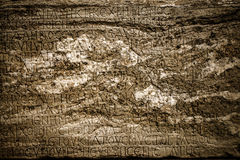 Ancient Alphabets on Marble Background Stock Photography