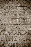 Ancient Alphabets on Marble Background Stock Image