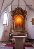 Ancient Altar. This is the altar of San Tomaso Church, a little very ancient church (XII sec. a.c.) in Trentino (north Italy Stock Images
