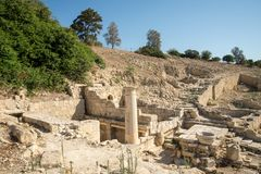 Ancient Amathus city site in Limassol. Cyprus Stock Images