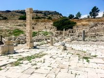 Ancient Amathus Ruins Cyprus Europe. Amathus or Amathous was an ancient city and one of the ancient royal cities of Cyprus until about 300 BC Stock Image