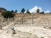 Ancient Amathus Ruins Cyprus Europe. Amathus or Amathous was an ancient city and one of the ancient royal cities of Cyprus until about 300 BC Royalty Free Stock Image