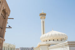 Ancient amazing arabian cream colour holy mosque roof Stock Image