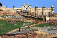 Ancient Amer Fort (Amber Fort), Jaipur, Rajasthan state, India. Ancient Amer Fort (Amber Fort), Jaipur, Rajasthan state, India Royalty Free Stock Images