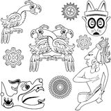Ancient american design Stock Image