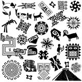 Ancient american design elements royalty free stock image