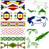 Ancient American pattern stock photos