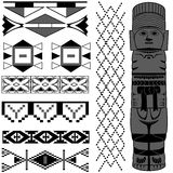 Ancient American pattern stock image