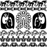 Ancient american pattern on white Royalty Free Stock Photos