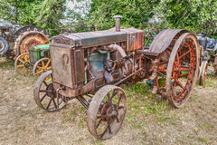Ancient american tractor Case C Royalty Free Stock Images