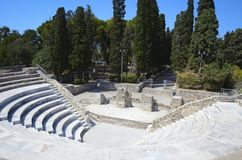 Amphiteater in Kos, Greece Stock Images