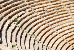 Ancient amphitheater. Rows of ancient amphitheater. Closeup. Patara, Turkey royalty free stock image