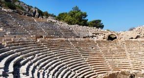 Ancient amphitheater. Rows of ancient amphitheater. Patara, Turkey stock photos