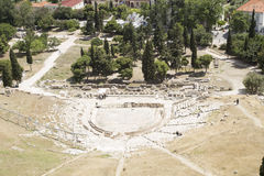 Ancient amphitheater at Acropolis hill, Athens, Greece Royalty Free Stock Photo