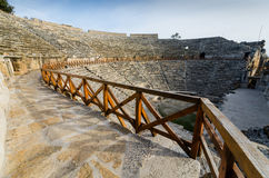 Ancient Amphitheater at city of Hierapolis. Royalty Free Stock Image