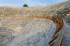 Ancient Amphitheater at city of Hierapolis, Pamukkale, Turkey Royalty Free Stock Image