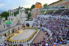 Ancient amphitheater dance show Stock Images