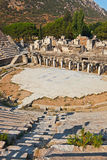 Ancient amphitheater in Ephesus Turkey. Archeology background Stock Images