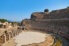 Ancient amphitheater in Ephesus Turkey Royalty Free Stock Photography