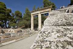 Ancient amphitheater of Epidaurus in Greece Stock Photography