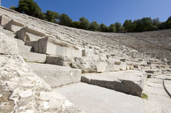 Ancient amphitheater of Epidaurus at Greece Royalty Free Stock Photos