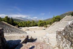 Ancient amphitheater of Epidaurus at Greece Royalty Free Stock Photos