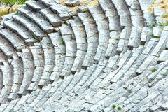 An ancient amphitheater (Greece) Stock Photo