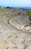 Ancient amphitheater in Hierapolis Stock Photos