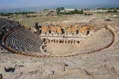 Ancient amphitheater in Hierapolis Stock Photography