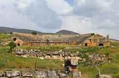 Ancient amphitheater in Hierapolis, Turkey Stock Image