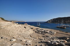 Ancient amphitheater Knidos Turkey Stock Image
