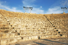 Ancient amphitheater in Kourion stock image