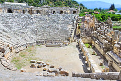 Ancient amphitheater in Myra Stock Photography