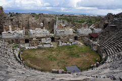 Ancient amphitheater in Myra Royalty Free Stock Photos