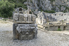 Ancient amphitheater in Myra (Demre), Turkey Royalty Free Stock Images