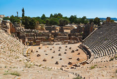 Ancient amphitheater in Myra, Turkey royalty free stock photos