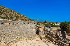 Ancient amphitheater in Myra, Turkey Royalty Free Stock Photography