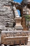 Ancient amphitheater in Myra (Turkey) Royalty Free Stock Image