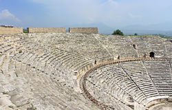 Ancient amphitheater near Pamukkale in Hierapolis Royalty Free Stock Photos