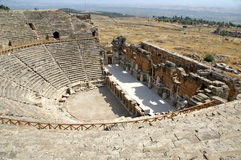 Ancient amphitheater near Pamukkale in Hierapolis Stock Photo