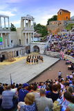 Ancient amphitheater performance Stock Photo