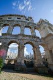 Ancient amphitheater in Pula Croatia. Adriatis coast Europe Stock Image
