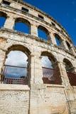 Ancient amphitheater in Pula Croatia. Adriatis coast Europe Stock Photo