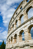 Ancient amphitheater in Pula Croatia. Adriatis coast Europe Royalty Free Stock Photo