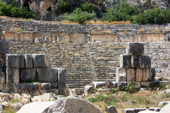 Ancient amphitheater. Ruins of the ancient amphitheater in Anatolia. Turkey Stock Image